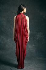Mandira Wirk Cherry Gown (MWJD-011)