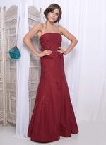 Mandira Wirk Maroon Embroidered Gown (MW/GCF008)