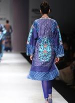 AL-Indian Luxury (Ashima Leena) Blue Printed Kurta with Leggings (AL-O12)