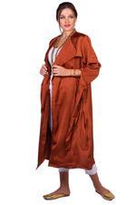 Elvi Rust Brown Alya Tie-Up Duster Coat (AW18/02/JK14)