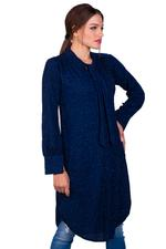 Miella Navy Blue Bow-Tie Knit Tunic Dress (TP041-Blue)