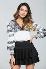 OwnTheLooks White & Black Lace Top (188C)