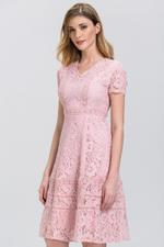 OwnTheLooks Rose Pink Lace Dress (488A)