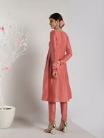 Abhishti Pink Flared Kurta (ABI-1452)