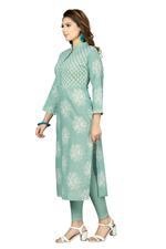 Suumaya Green & White Printed (AFD-002)