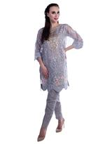 Agha Noor Grey Embroidered Kurta with Pants (ANSS'19-07)