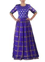 Latha Puttanna Purple & Green Lehenga Set