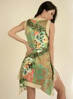 Fifth Season London Beige & Green Short Evening Dress (FS0017)
