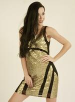 Fifth Season London Gold & Black Short Evening Dress (FS0156)