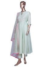 Summer by Priyanka Gupta Mint Green Embellished Anarkali Kurta Set (KS19142) by Vesimi