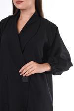 Moistreet Black Coat Style Abaya (MOIS3008)