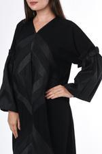 Moistreet Black Tassel Abaya (MOIS3056)