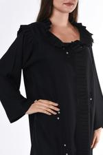 Moistreet Black Pleated Abaya (MOIS3062)