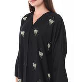 Moistreet Black Hand Embroidered Abaya (MOIS3094)