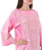 Moistreet Pink Embroidered Kaftan (MOIS3143)