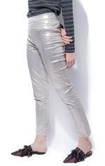 Miella Silver Metallic Straight Trousers (PN027-SLV)