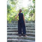 Indricka Black Straight Pants (STVS3126KSM_BLK)