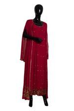 Shivani Tijori Dark Pink Embellished Long Jacket-Style Dress (ST 2208) by Zene