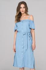 OwnTheLooks Light Blue Denim Button Up Dress (625A)