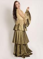 Sa Soie Gold Evening Gown (04001)