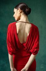 Mandira Wirk Red Dress (MWJD-003)