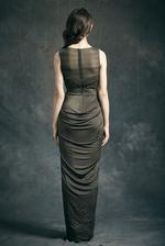 Mandira Wirk Olive Green Gown (MWJD-005)