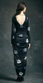 Mandira Wirk Black Floral Dress (MWJD-013)