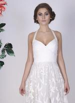 Mandira Wirk White Embroidered Gown (MW/CF-010)