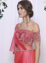Mandira Wirk Pink Ombre Draped Saree MW/CF-001 (MW/CF-001)