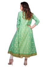 Imara Mint Green & White Printed Anarkali Set (A18NORSHS958)