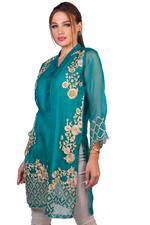 Agha Noor Green Embroidered Kurta (AN-23)