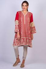 Agha Noor Red Embroidered Kurta (AN-15A)