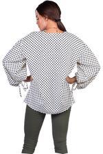 Miella White & Black Rey Polka Dot Top (TP031-WHT)
