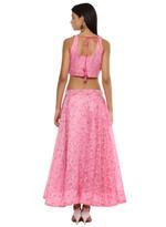 Imara Pink Printed & Embroidered Lehenga Set (A18CETLHS003)