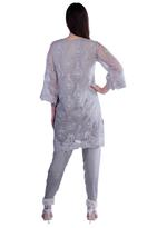 Agha Noor Grey Embroidered Kurta with Pants (ANSS'19-19)