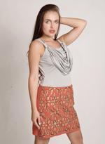 Fifth Season London Grey & Orange Short Evening Dress (FS 0172)