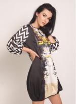 Fifth Season London Black & White Short Evening Dress (FS0019)