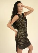 Fifth Season London Black & Tan Short Evening Dress (FS0032)