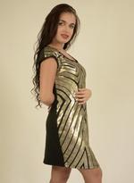 Fifth Season London Black & Gold Short Evening Dress (FS0033)