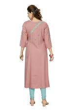 Suumaya Pink Cut & Sew Checked Kurta (I-5207)