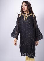 Agha Noor Black Embellished Kurta (K_364)