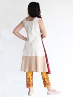 Mesmora Off-White & Yellow Embroidered Jacket-Style Kurta & Pants Set (#MF1408)