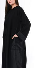 Moistreet Black Panel Abaya (MOIS3007)
