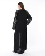 Moistreet Black Hand Embroidered Abaya (MOIS3072)