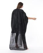 Moistreet Black Hand Embroidered Abaya (MOIS3080)