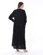 Moistreet Black Sporty Abaya (MOIS3087)