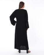 Moistreet Black Hand Embroidered Abaya (MOIS3136)
