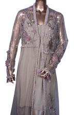 E'lan Vital Bronze Embellished Kurta, Jacket & Pants Set (SAI002) by Vesimi