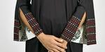 Indricka Black Overlap Dress (STVS3036MQM_BLK)