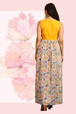 The Khadi Staple Multicolored Printed Maxi Dress (TKSG02)
